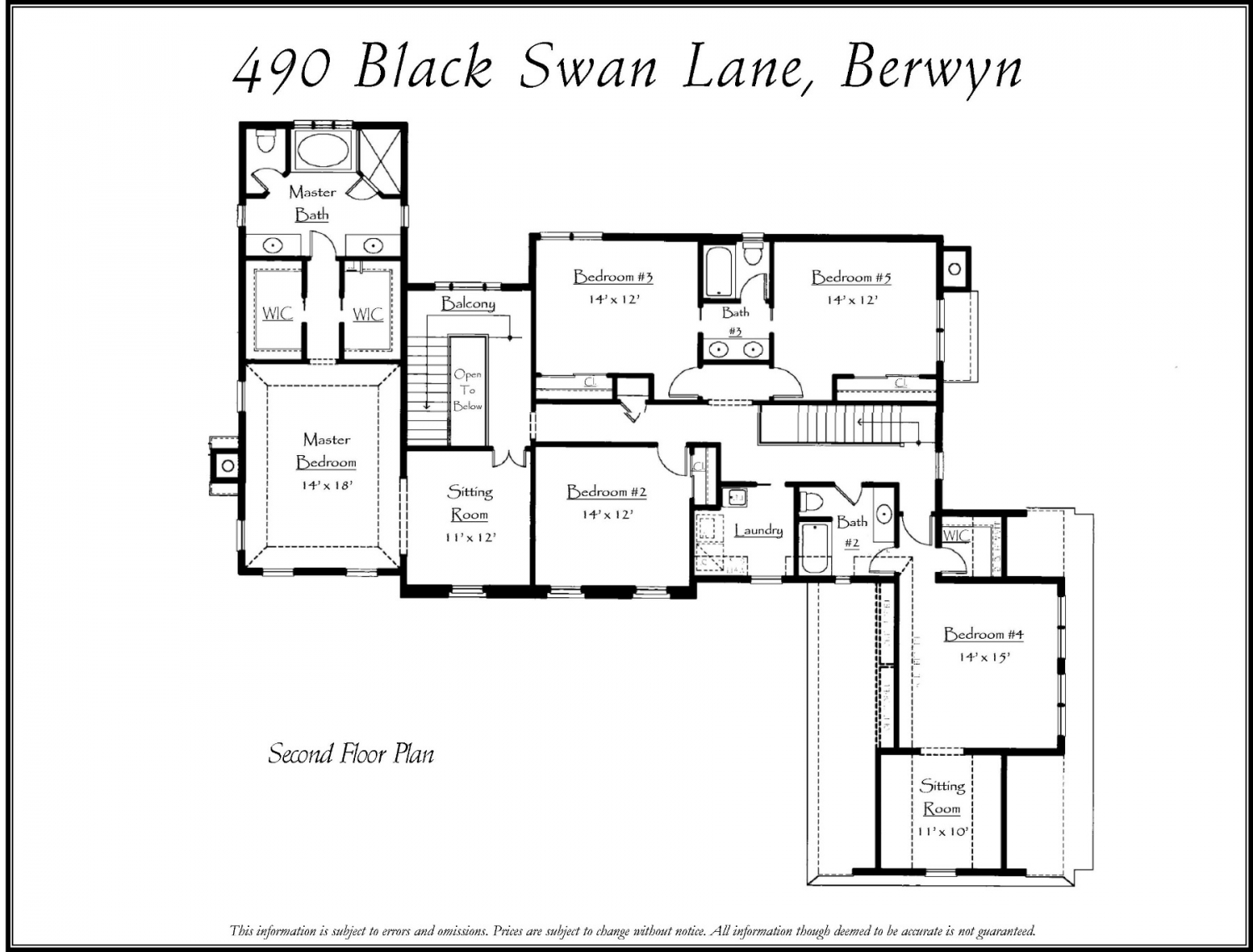 490 blsck swan second floor